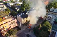 Pożar dostawczaka na Dworskiej