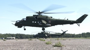 Mi-24 na poligonie