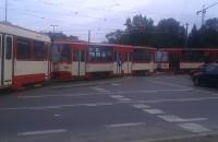 Po zderzeniu tramwaju przed Huciskiem