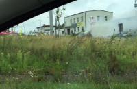 Pożar auta przy Armii Krajowej
