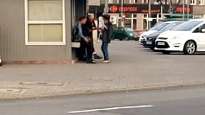 Żule i Żulietta koło dworca w Gdyni