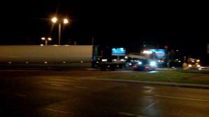 Ciężki transport blokuje ruch pod Zieleniakiem