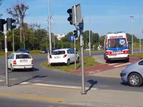 Potrącenie rowerzysty w Gdańsku
