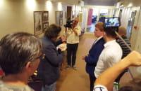 Protestujący z wizytą w biurze prezydenta Grzelaka
