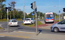 Rowerzysta zabrany po wypadku do szpitala