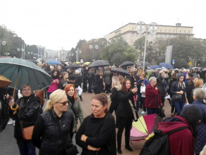 Kilkaset osób na manifestacji w Gdyni