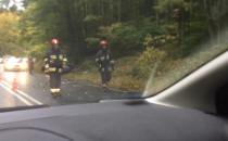 Skutki wypadku na Spacerowej w Gdańsku