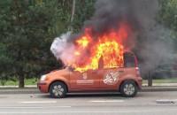 Pożar auta na Chwaszczyńskiej w Gdyni