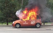 Pożar auta na Wielkopolskiej w Gdyni