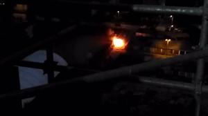 Nocny pożar samochodu w Oliwie