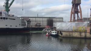 Poszukiwania stoczniowca, który wpadł do kanału wodnego