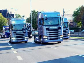 Pomorska Miss Scania 2016 - przejazd ulicami Gdańska