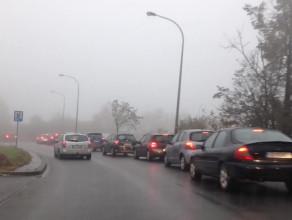 Korek na skrzyżowaniu Kartuskiej i Jabłoniowej