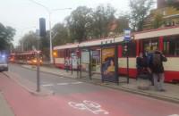Zatrzymanie ruchu tramwajowego w Oliwie