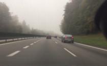 Gęsta mgła nad obwodnicą