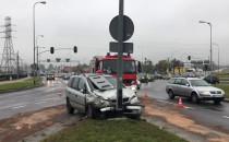 Skutki wypadku na Łostowickiej