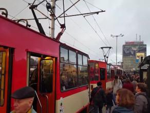 Paraliż tramwajowy w centrum