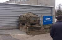 Odsłonięcie tablicy na schronie we Wrzeszczu