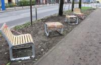 Nowe meble miejskie na ul. Partyzantów