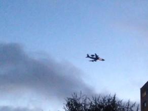 Samolot AWACS NATO nad Moreną