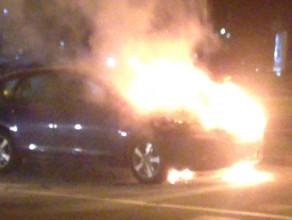 Pożar samochodu pod Zieleniakiem