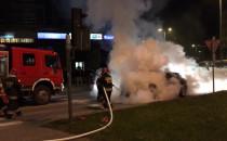 Gaszenie auta przy Zieleniaku