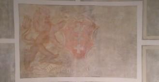 Odkryte malowidła w sieni Ratusza Staromiejskiego