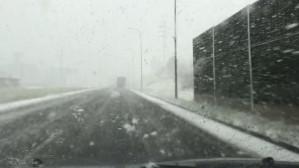 Intensywne opady śniegu na Armii Krajowej