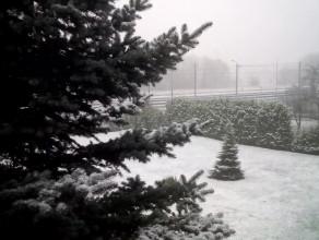 Pod Trójmiastem już zima! Pada gruby śnieg