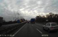 Pożar ciężarówki na Obwodnicy