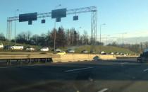 Ogromy korek na zjeździe z obwodnicy do Ikei