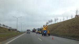 Roboty na Armii Krajowej w kierunku Gdańska