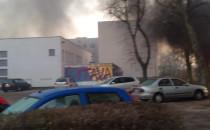 Pożar altany przy ul. Widnej na Witominie