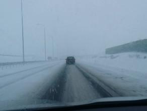 Złe warunki pogodowe na autostradzie A1
