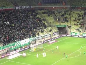 Lukas Haraslin strzela na 3:0 w meczu Lechia Gdańsk - Górnik Łęczna