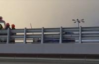 Zamknięta estakada na Chełmie po dachowaniu na Armii Krajowej