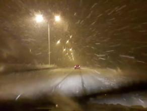 Ogromna śnieżyca na autostradzie A1