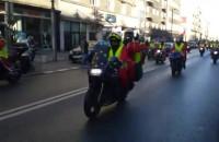 Przejazd Mikołajów na motocyklach przez Gdynię