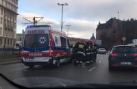 Skutki wypadku w centrum Gdańska