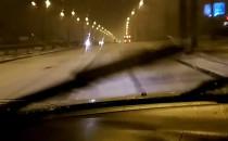 Opady śniegu w Gdyni.