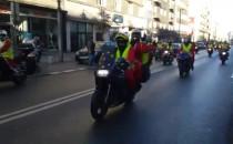 Mikołaje na motocyklach na Świętojańskiej