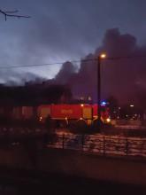 Pożar domu na Oruni