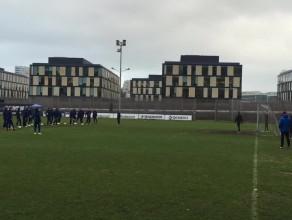 Trening strzelecki piłkarzy Arki Gdynia przed meczem z liderem