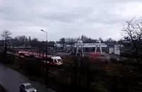 Pociąg na północnej cześci Gdyni