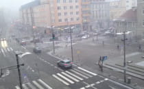 Pada śnieg w Gdańsku.