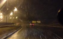 Opady śniegu na Trasie W-Z