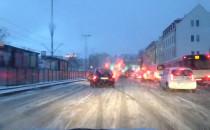 Białe ulice w centrum Gdańska ciężko się...