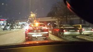 Aleja Grunwaldzka w śniegu