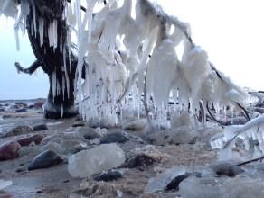 Fantastyczne lodowe rzeźby w Orłowie