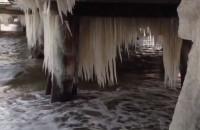 Zamarznięte molo w Sopocie